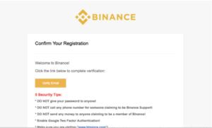 Binance-Registrierung Schritt 4