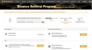 Binance-Registrierung Schritt 7