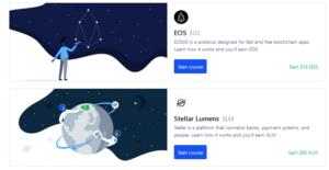 Coinbase Earn EOS and Stellar Lumens